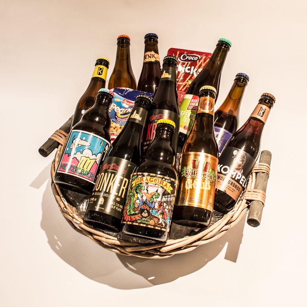 Een bierkorf gevuld met Limburgse streekbieren ter waarde van 30 euro